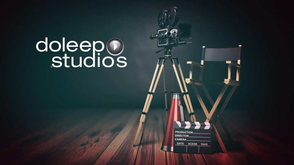 Video Production Stage with Doleep Studios Logo With Film Productions items
