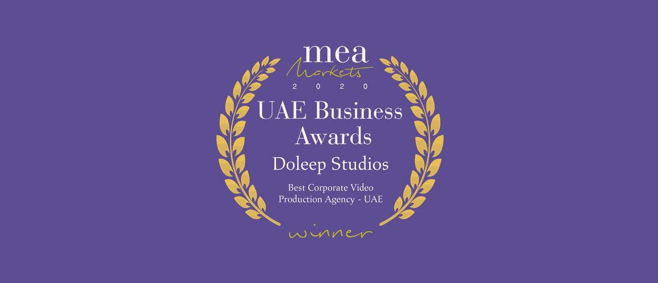 UAE's Best Corporate Video Production Agency - 2020 MEA Markets Awards 1 | Best Corporate Video Production Agency
